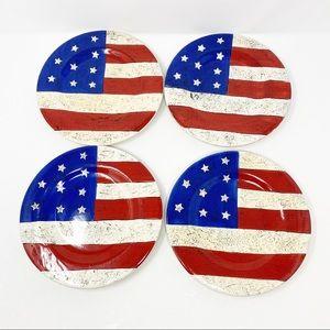 Coloniel Warren Kimble American Flag Salad Plates